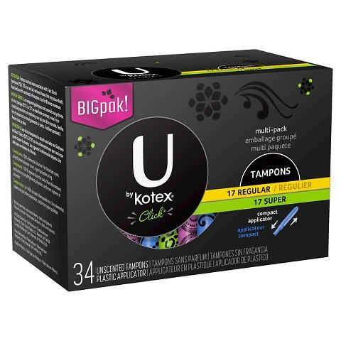 40% Off + $5 GC with Select U by Kotex or Playtex Feminine Care Products @ Target