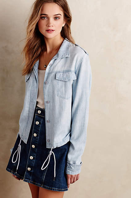 Chambray Bomber Jacket @ anthropologie