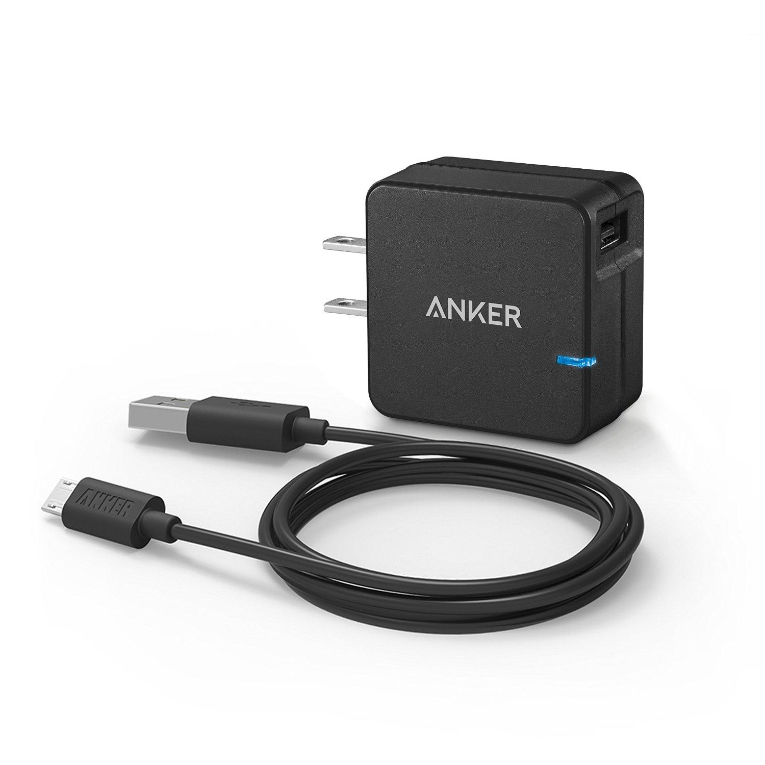 As low as $1 Anker Micro USB 2.0/3.0 Cables, Wall Charger, Car Charger