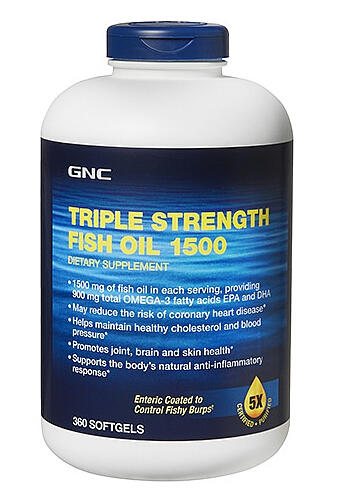 GNC Triple Strength Fish Oil 1500 360 softgels