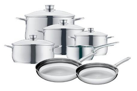 Lowest price! WMF 07 3057 6040 11-Piece Diadem Cookware Set, Silver