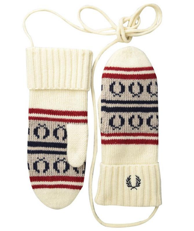 Fred Perry Men's Fairisle Knit Mittens