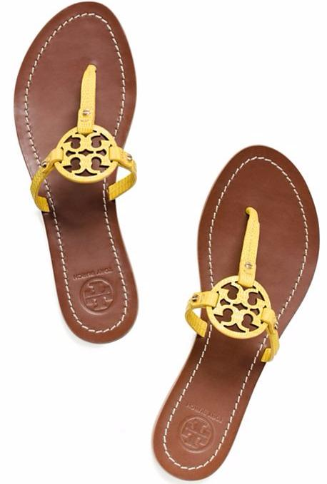 MINI MILLER FLAT THONG SANDAL @ Tory Burch