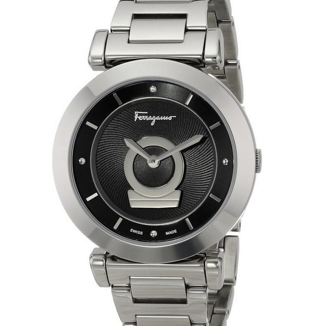 $399 Salvatore Ferragamo Women's Swiss Quartz Silver Watch