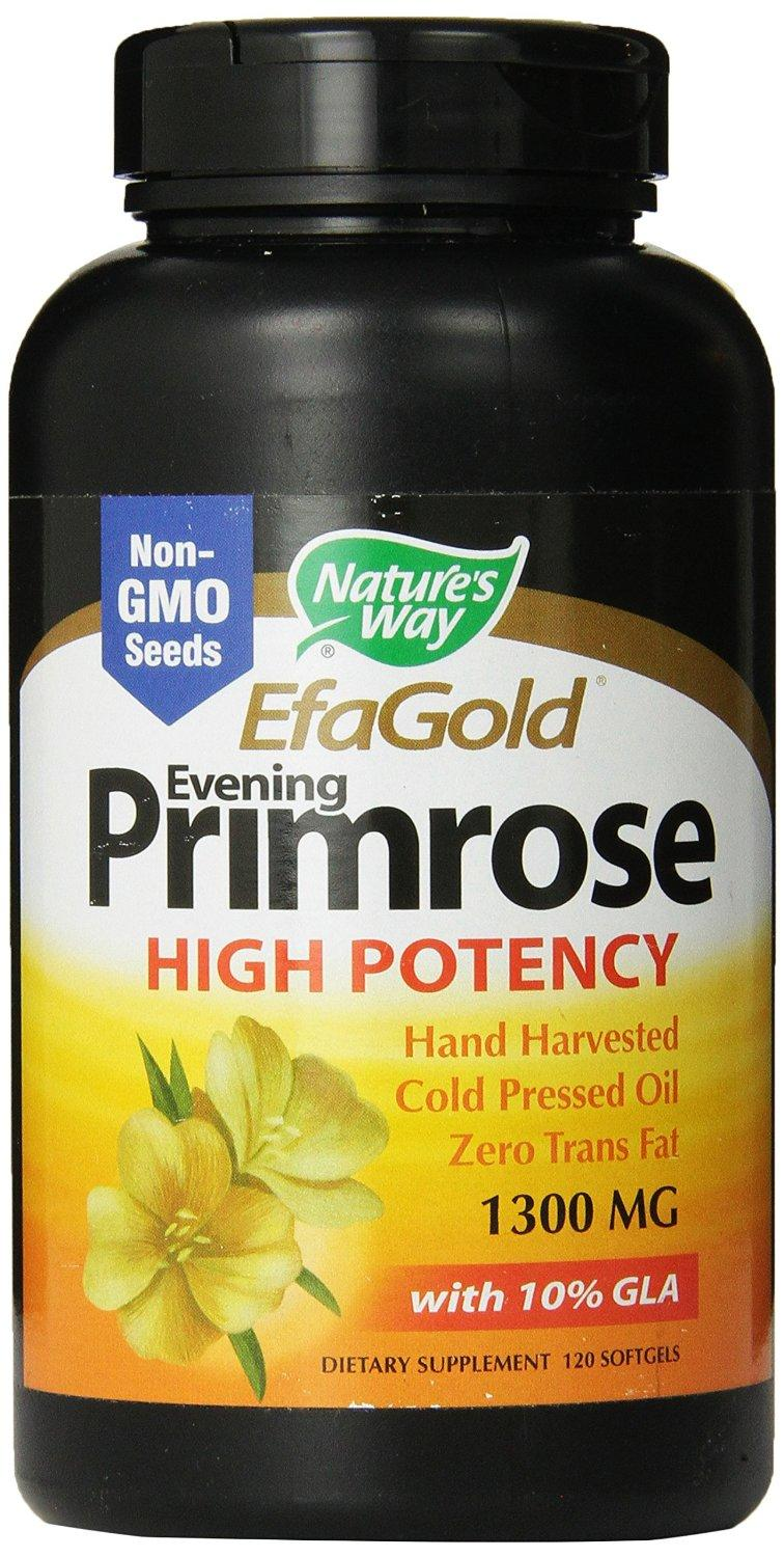 Nature's Way Evening Primrose Cold Pressed 1300mg, 120 Softgels