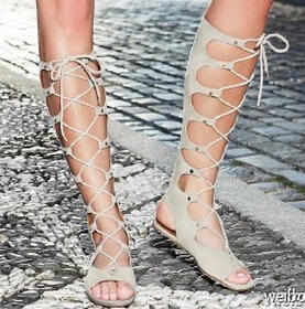 $39.99 Topshop 'Figtree' Leather Gladiator Sandal