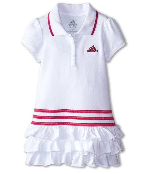 adidas Kids Ruffle Polo Dress (Toddler/Little Kids)