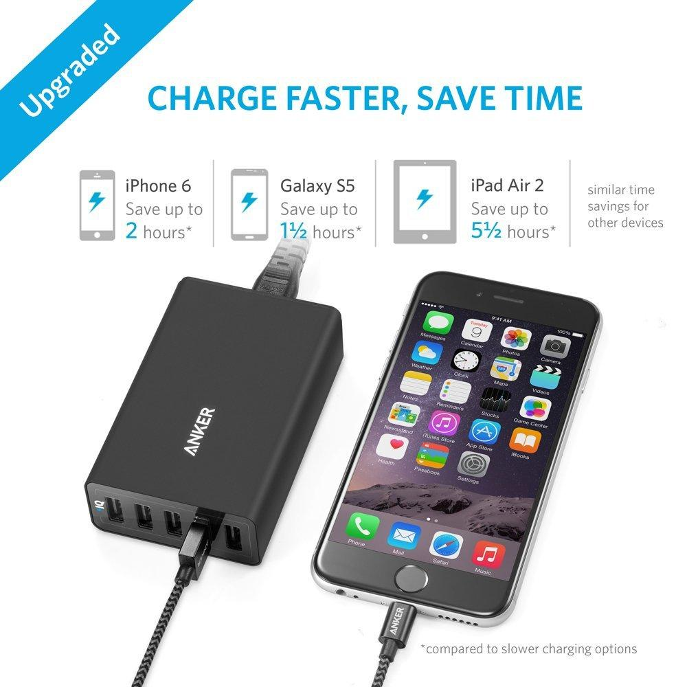 Anker PowerPort 5 (40W 5-Port USB Charging Hub) Multi-Port USB Charger