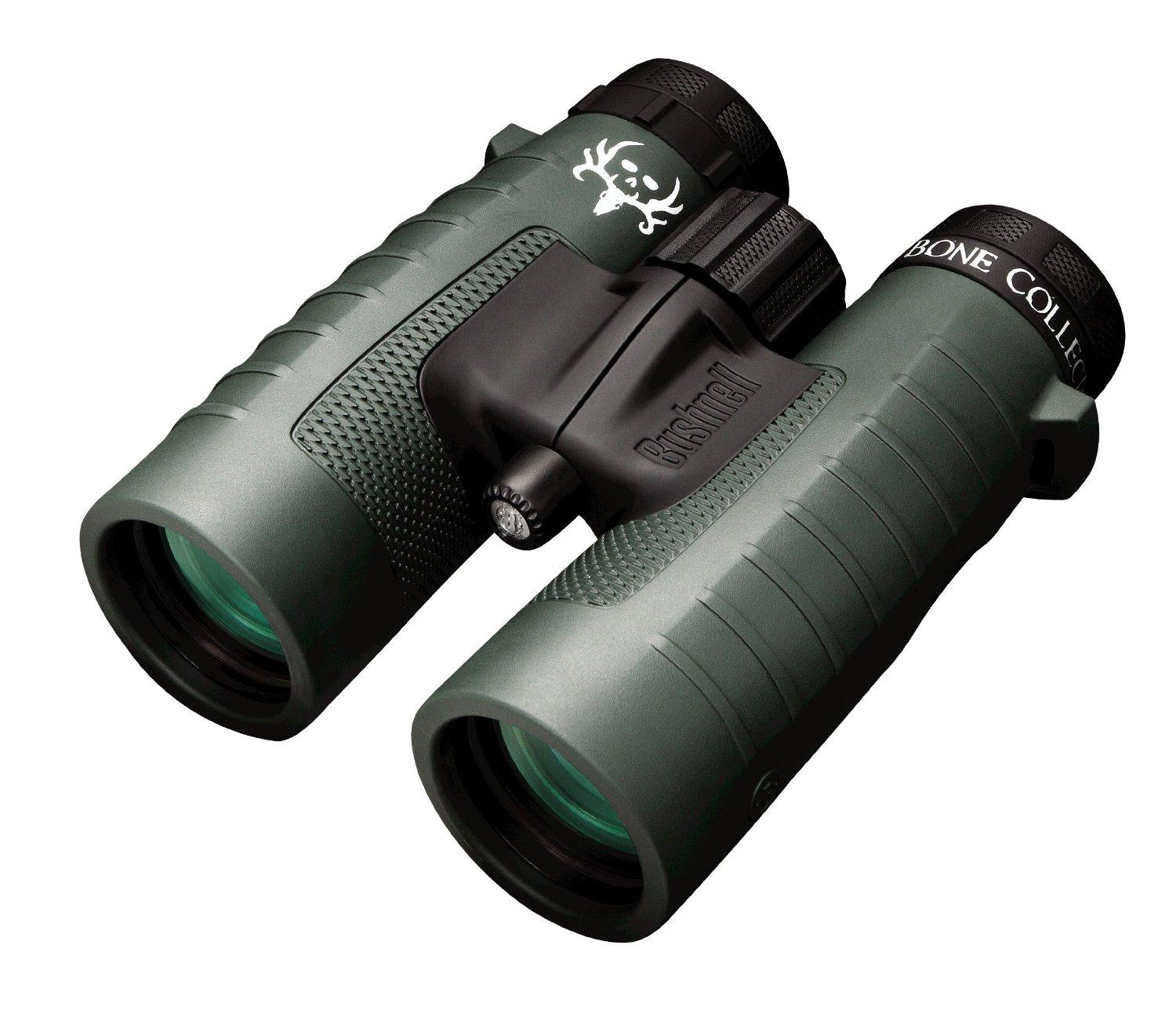 Bushnell Trophy XLT Roof Prism Binoculars, 10x42mm (Bone Collector Edition)