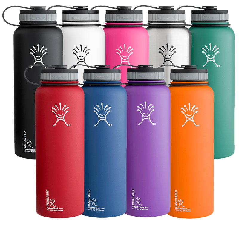 $29.49 Hydro Flask Insulated Stainless Steel Water Bottle, Wide Mouth, 40-Ounce