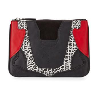 Alexander Wang  Colorblock Mixed Leather Sneaker-Inspired Clutch Bag @ Bergdorf Goodman