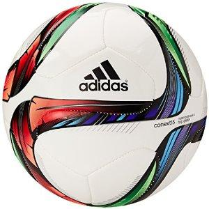 adidas Performance Conext15 Top Glider Soccer Ball, White/Night Flash Purple /Flash Green, Size 4