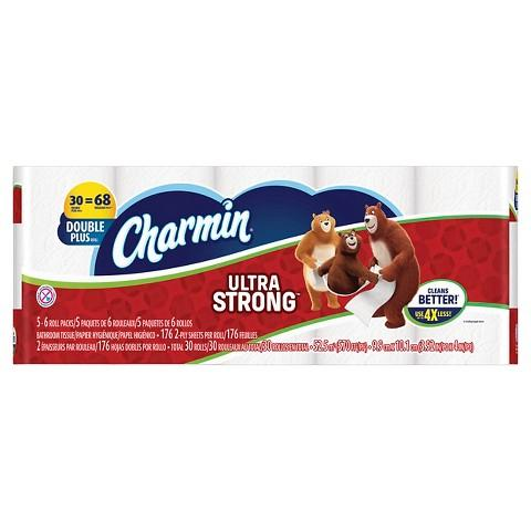$43 3 x Charmin® Ultra Toilet Paper 30 Double Plus Rolls +$10 Gift Card