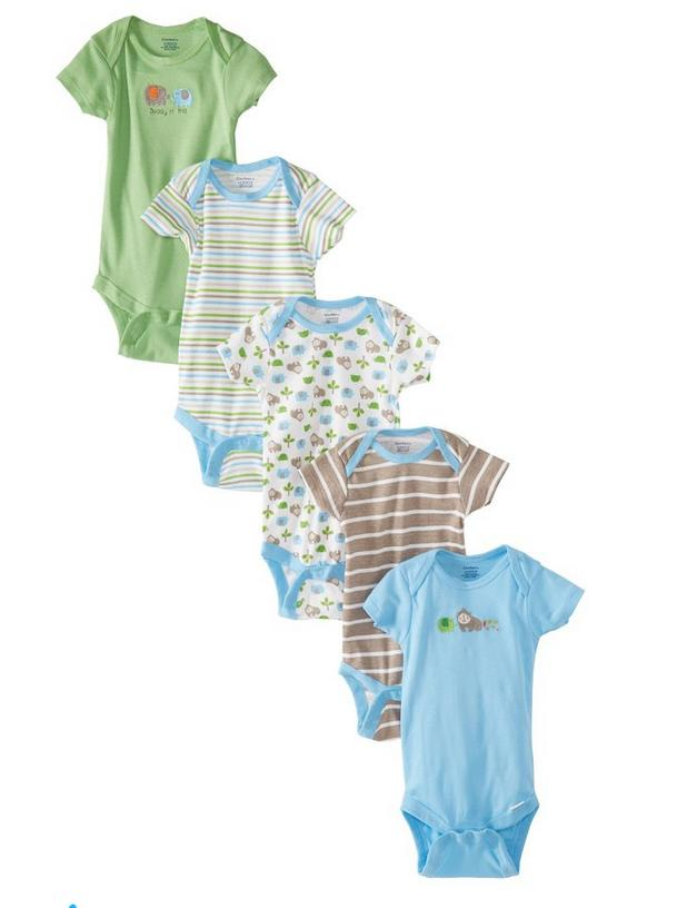 Gerber Baby-Boys Newborn Five-Pack Onesies