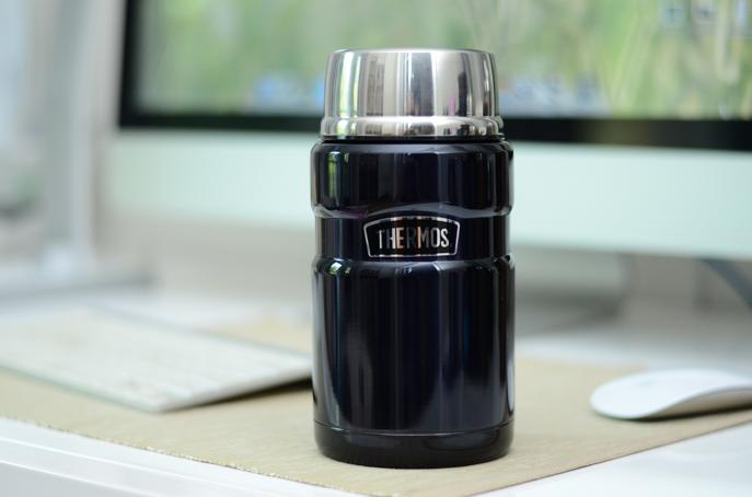 Thermos Stainless King 24-Ounce Food Jar, Midnight Blue