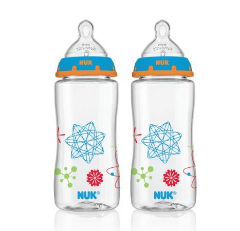 NUK Advanced Orthodontic Bottle in Boy Colors, 10-Ounce, 2 Count