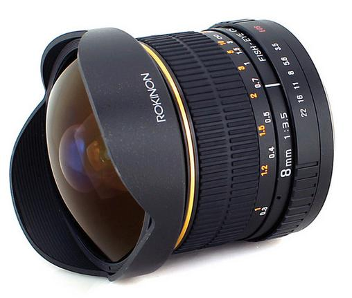 Rokinon 8mm F3.5 Ultra Wide Fisheye Lens for Canon, Nikon, Sony, Pentax