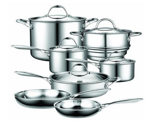 Lightning deal-Cooks Standard 12-Piece Cookware Set