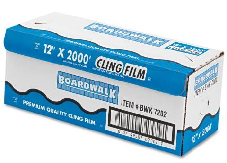 Boardwalk 7202 PVC Food Wrap Film, 12