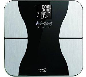Smart Weigh Body Fat Digital Precision Scale with Tempered Glass Platform, Eight User Recognition