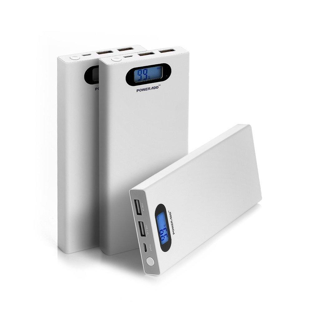 Poweradd Pilot S 12000mAh Portable Charger Dual USB External Battery Power Pack Smart LCD Display