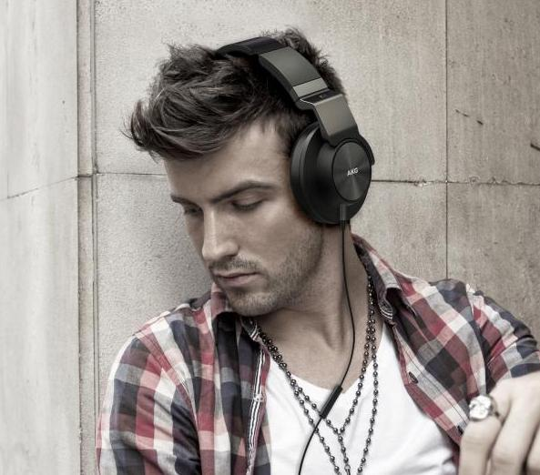 AKG K551SLV Closed-Back Reference-Class Headset with In-Line Microphone and Passive Noise Reduction,