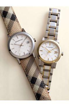 Burberry Large Check Strap Watch 38mm @ Nordstrom