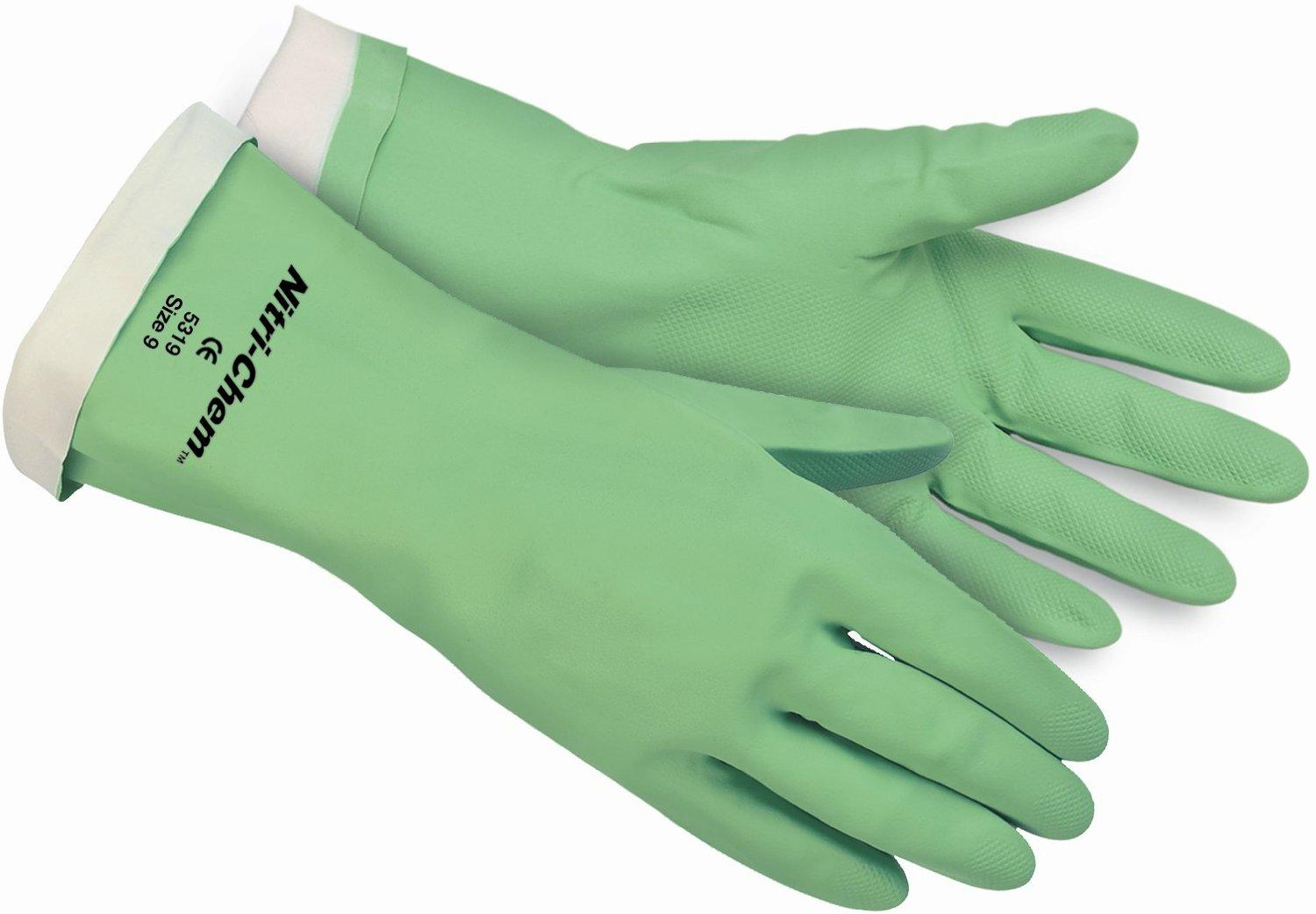 $2.99 Safety Works C5319M Chemical Nitrile Glove Flocked
