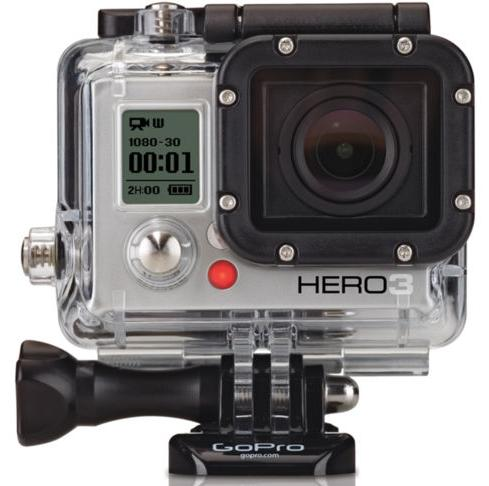 $134 GoPro HERO3 White Edition Camera Manufacturer-Refurbished