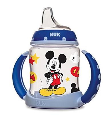 $7.98 NUK Disney Mickey Mouse Learner Cup with Silicone Spout, 5-Ounce