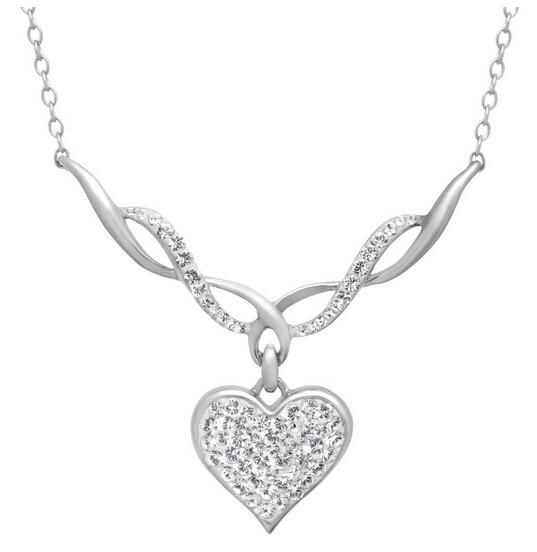 $29 Heart Necklace with Swarovski Crystals