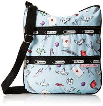 LeSportsac Kylie Cross-body Cross Body Bag, Love Letters Blue, One Size