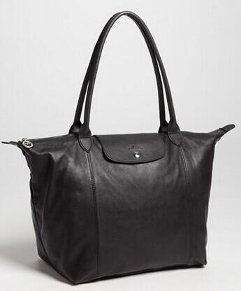 Longchamp 'Le Pliage Cuir' Leather Tote @ Nordstrom