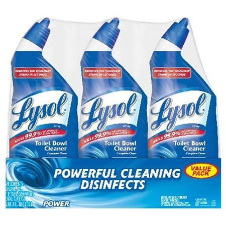 $4.97 Lysol Power Toilet Bowl Cleaner, 24 fl oz, (Pack of 3)