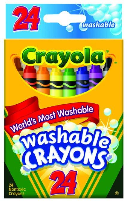 Crayola Washable Crayons, 24 count