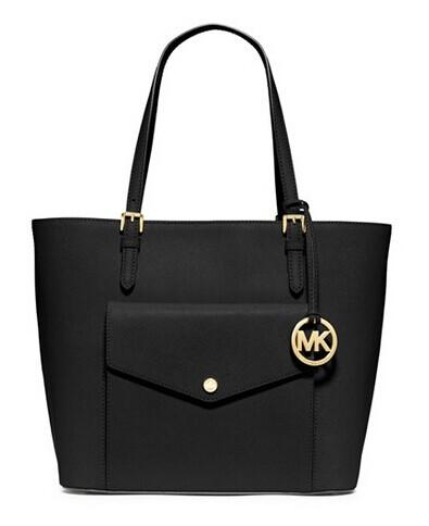 MICHAEL Michael Kors 'Jet Set - Large' Saffiano Leather Snap Pocket Tote @ Nordstrom