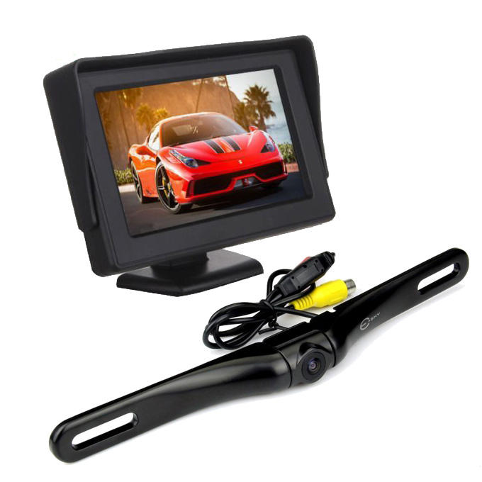 $27.99 Esky 4.3 inch Portable Color LCD Car Backup Monitor Screen + Adjustable Rear / Front View Camera