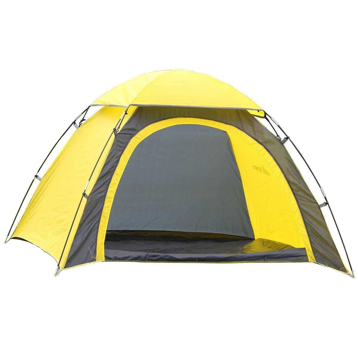 Semoo Half-Moon Style Door, 3-Person Lightweight Camping/Traveling Family Dome Tent with Compression Bag