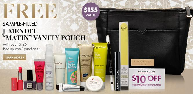 Free Sample Filled Clutch with $125 Purchase @ Beauty.com
