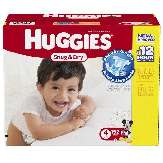 $3 Off + Extra 5% Off + Free Shipping Select Huggies Snug and Dry Baby Diapers @ Amazon