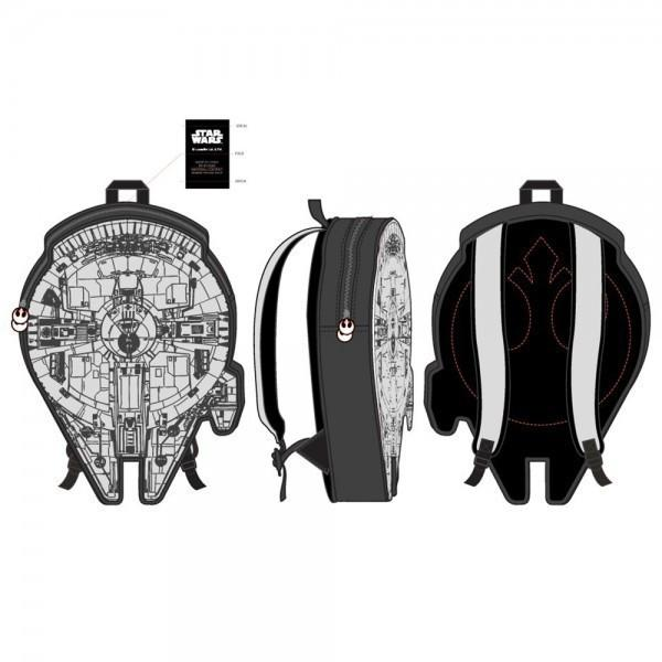 Star Wars Grey Millennium Falcon 3D Backpack