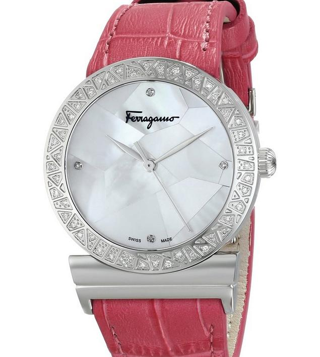 Salvatore Ferragamo Women's Grande Maison Diamond-Accented Stainless Steel Watch