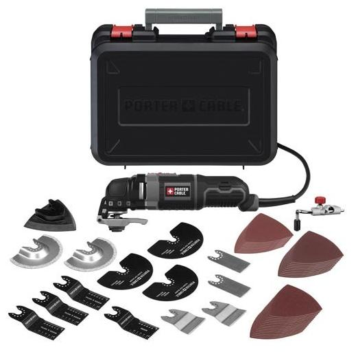 $74.99 PORTER-CABLE PCE605K52 3-Amp Oscillating Multi-Tool Kit with 52 Accessories