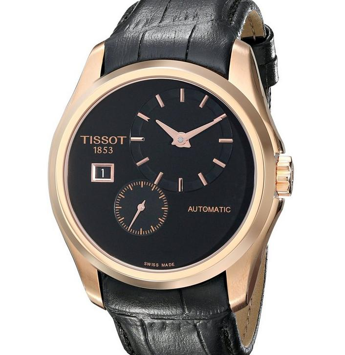 $404.68 Tissot Men's T0354283605100 Couturier Analog Display Swiss Automatic Black Watch
