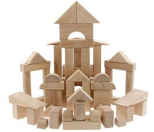 Melissa & Doug 60-Piece Wooden Block Set - 503 @ Woot!