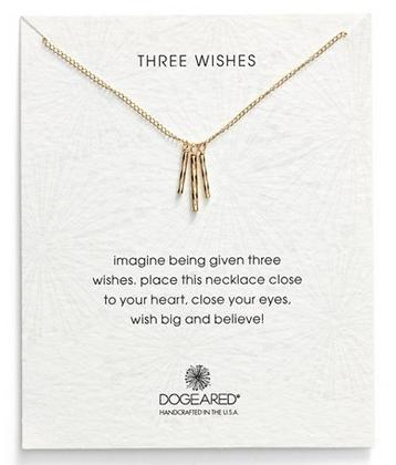 Dogeared 'Three Wishes' Pendant Necklace @ Nordstrom