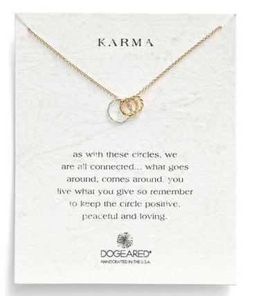 Dogeared 'Karma' Circle Pendant Necklace @ Nordstrom