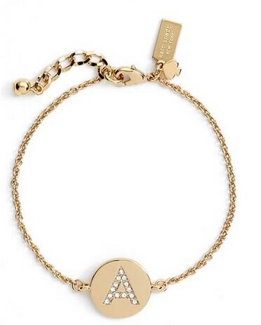 kate spade new york 'north court' pavé initial charm bracelet @ Nordstrom