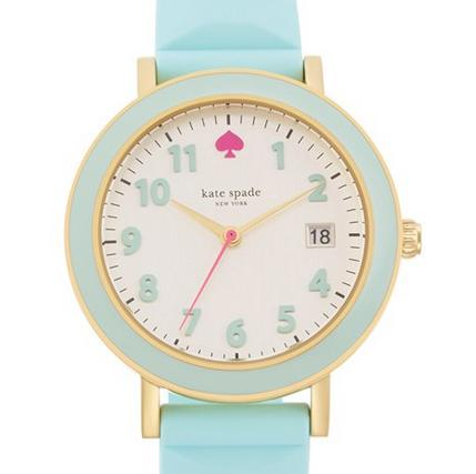 kate spade new york 'metro' silicone strap watch, 34mm @ Nordstrom