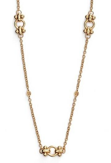 Tory Burch 'Gypset' Long Logo Station Necklace @ Nordstrom